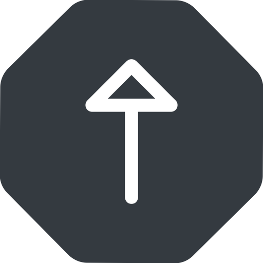 arrow up, normal, solid, octagon, arrow free icon 512x512 512x512px