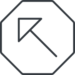 arrow-corner-thin thin, line, left, octagon, arrow, corner, arrow-corner-thin free icon 256x256 256x256px