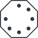 spinner-thin line, left, octagon, spinner, spin, wait, load, loading, spinner-thin free icon 128x128 128x128px
