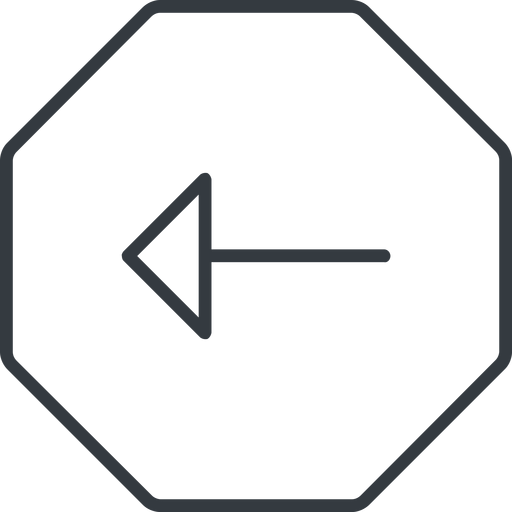 arrow-thin thin, line, left, octagon, arrow, arrow-thin free icon 512x512 512x512px