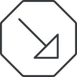 arrow-corner-thin thin, line, right, octagon, arrow, corner, arrow-corner-thin free icon 256x256 256x256px