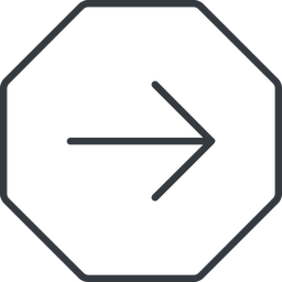 arrow-simple-thin thin, line, right, octagon, arrow, direction, arrow-simple-thin free icon 256x256 256x256px