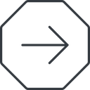 arrow-simple-thin thin, line, right, octagon, arrow, direction, arrow-simple-thin free icon 128x128 128x128px