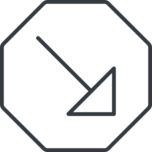 arrow-corner-thin thin, line, right, octagon, arrow, corner, arrow-corner-thin free icon 512x512 512x512px