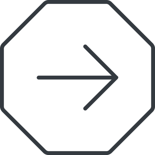 arrow-simple-thin thin, line, right, octagon, arrow, direction, arrow-simple-thin free icon 512x512 512x512px