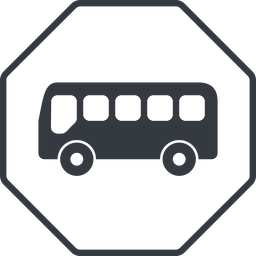 bus-side thin, line, wide, octagon, horizontal, mirror, car, vehicle, transport, bus, side, bus-side free icon 256x256 256x256px