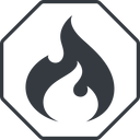 codeigniter thin, line, octagon, logo, brand, icon, horizontal, mirror, codeigniter, igniter, code, php, framework, flame, fire free icon 128x128 128x128px