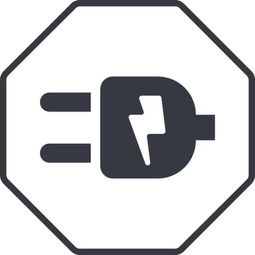 plug-alt thin, line, up, octagon, horizontal, mirror, electricity, plug, charge, charger, electric, electrics, electrical, plug-alt free icon 512x512 512x512px