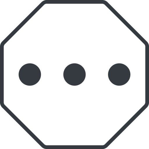 ellipsis thin, line, up, octagon, ellipsis, three, dots, wider, menu, collapse, ... free icon 512x512 512x512px