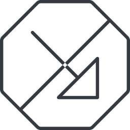 arrow-corner-thin thin, line, right, octagon, arrow, prohibited, corner, arrow-corner-thin free icon 256x256 256x256px