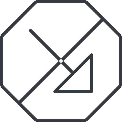 arrow-corner-thin thin, line, right, octagon, arrow, prohibited, corner, arrow-corner-thin free icon 512x512 512x512px