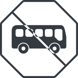 bus-side thin, line, wide, octagon, car, vehicle, transport, prohibited, bus, side, bus-side free icon 256x256 256x256px