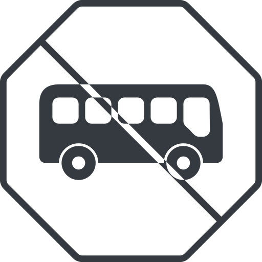 bus-side thin, line, wide, octagon, car, vehicle, transport, prohibited, bus, side, bus-side free icon 512x512 512x512px