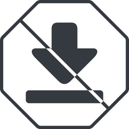 download-solid thin, line, up, octagon, download, downloaded, downloading, prohibited, download-solid free icon 512x512 512x512px