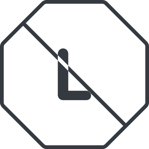 large thin, line, octagon, size, large, l, prohibited free icon 512x512 512x512px