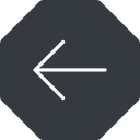 arrow-simple-thin thin, left, solid, octagon, arrow, direction, arrow-simple-thin free icon 128x128 128x128px