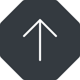arrow-simple-thin thin, up, solid, octagon, arrow, direction, arrow-simple-thin free icon 256x256 256x256px