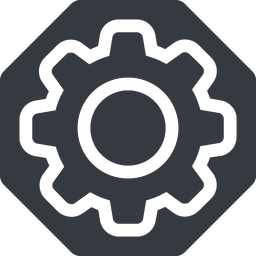 setting-thin thin, solid, octagon, setting, config, gear, wheel, settings, cog, setting-thin free icon 256x256 256x256px