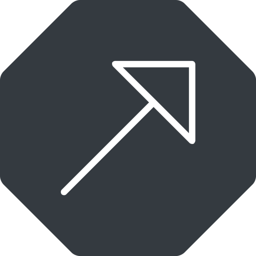 arrow-corner-thin thin, up, solid, octagon, arrow, corner, arrow-corner-thin free icon 512x512 512x512px