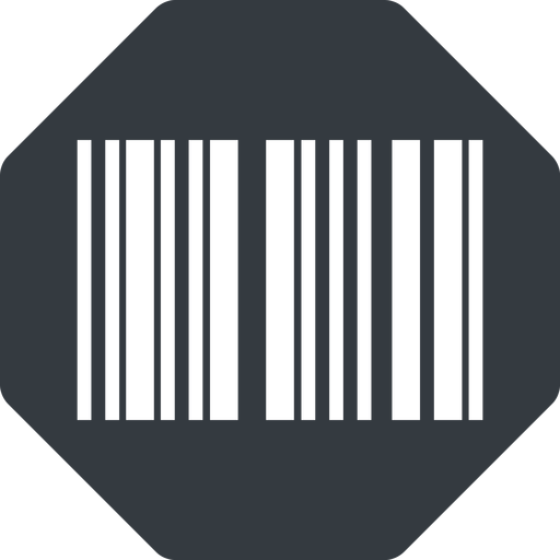 barcode-thin thin, up, solid, octagon, barcode, barcode-thin free icon 512x512 512x512px