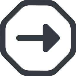 arrow-solid line, right, wide, octagon, arrow, arrow-solid free icon 256x256 256x256px