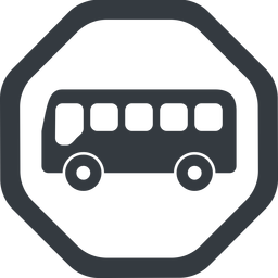 bus-side line, wide, octagon, horizontal, mirror, car, vehicle, transport, bus, side, bus-side free icon 256x256 256x256px