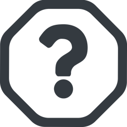 question-mark line, wide, octagon, question, mark, question-mark, help free icon 256x256 256x256px