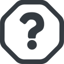 question-mark line, wide, octagon, question, mark, question-mark, help free icon 128x128 128x128px