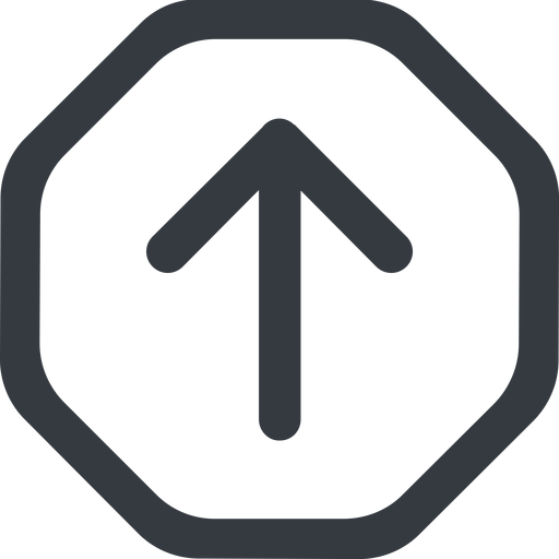 arrow-simple-wide line, up, octagon, arrow, direction, arrow-simple-wide free icon 512x512 512x512px