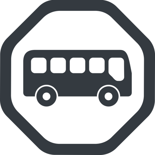 bus-side line, wide, octagon, car, vehicle, transport, bus, side, bus-side free icon 512x512 512x512px