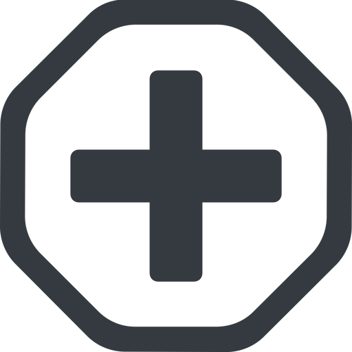 plus-solid line, octagon, plus, add, new, medical, plus-solid, create, addition, +, more, medic free icon 512x512 512x512px
