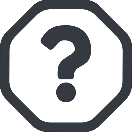 question-mark line, wide, octagon, question, mark, question-mark, help free icon 512x512 512x512px