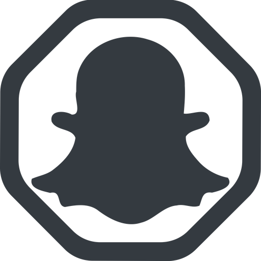 snapshat-solid line, wide, solid, octagon, logo, brand, social, network, chat, snapshat-solid, snapchat free icon 512x512 512x512px