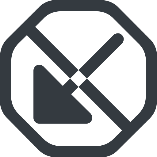arrow-corner-solid line, down, wide, octagon, arrow, prohibited, corner, arrow-corner-solid free icon 512x512 512x512px