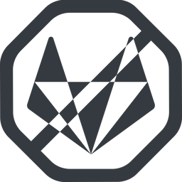 gitlab-alt-solid line, wide, solid, octagon, brand, horizontal, mirror, social, network, prohibited, repo, gitlab, gitlab-alt, gitlab-alt-solid, wolf free icon 256x256 256x256px