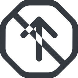 arrow-simple-wide line, up, octagon, arrow, direction, prohibited, arrow-simple-wide free icon 256x256 256x256px