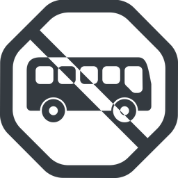 bus-side line, wide, octagon, car, vehicle, transport, prohibited, bus, side, bus-side free icon 256x256 256x256px