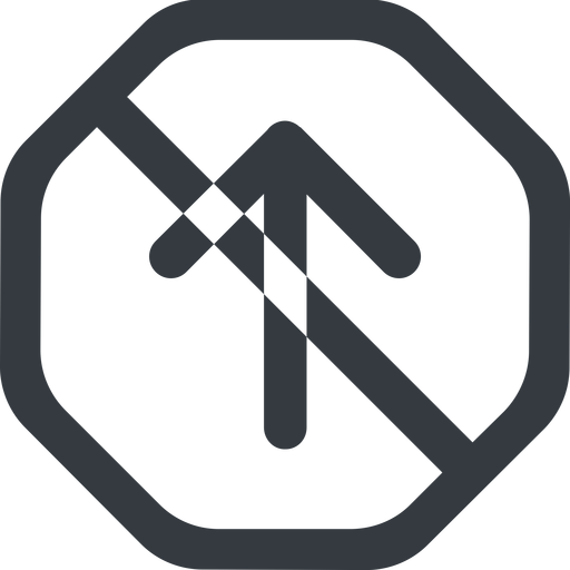 arrow-simple-wide line, up, octagon, arrow, direction, prohibited, arrow-simple-wide free icon 512x512 512x512px
