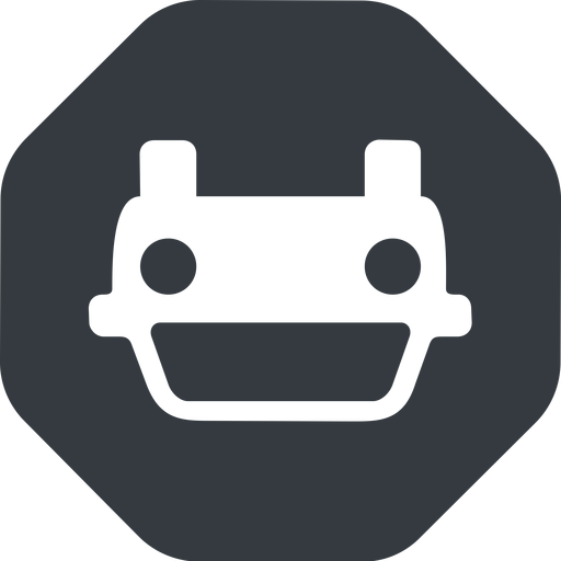 car-front-small down, solid, octagon, car, front, vehicle, transport, car-front-small free icon 512x512 512x512px