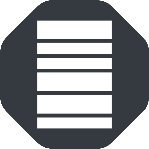 barcode-wide right, wide, solid, octagon, barcode, barcode-wide free icon 512x512 512x512px