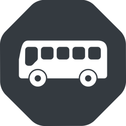 bus-side wide, solid, octagon, horizontal, mirror, car, vehicle, transport, bus, side, bus-side free icon 256x256 256x256px