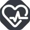 beating-heart-wide wide, solid, octagon, horizontal, mirror, rate, medical, heart, medic, beating, beat, monitor, pulse, beating-heart-wide, beating-heart free icon 128x128 128x128px