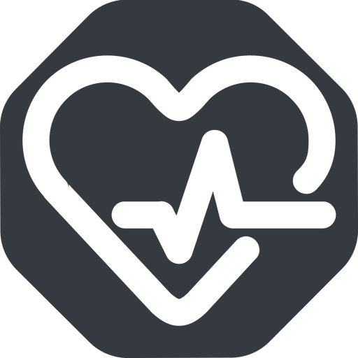 beating-heart-wide wide, solid, octagon, horizontal, mirror, rate, medical, heart, medic, beating, beat, monitor, pulse, beating-heart-wide, beating-heart free icon 512x512 512x512px