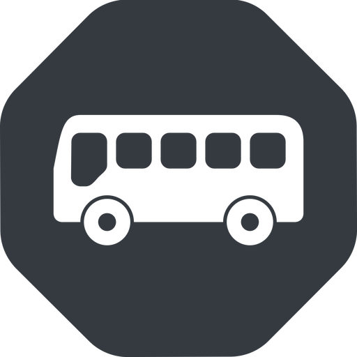 bus-side wide, solid, octagon, horizontal, mirror, car, vehicle, transport, bus, side, bus-side free icon 512x512 512x512px