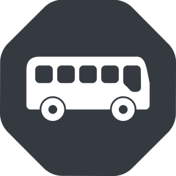 bus-side wide, solid, octagon, car, vehicle, transport, bus, side, bus-side free icon 256x256 256x256px