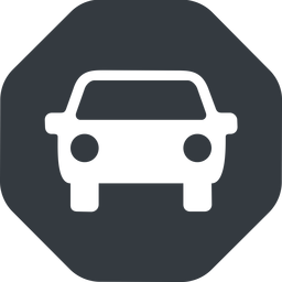 car-front-small up, solid, octagon, car, front, vehicle, transport, car-front-small free icon 256x256 256x256px