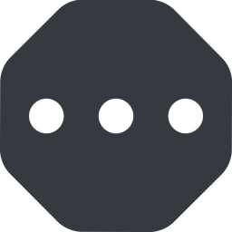 ellipsis up, wide, solid, octagon, ellipsis, three, dots, wider, menu, collapse, ... free icon 256x256 256x256px