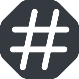 hashtag-wide wide, solid, octagon, social, hashtag, hashtag-wide free icon 256x256 256x256px