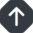 arrow-simple-wide up, solid, octagon, arrow, direction, arrow-simple-wide free icon 128x128 128x128px