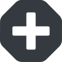 plus-solid solid, octagon, plus, add, new, medical, plus-solid, create, addition, +, more, medic free icon 128x128 128x128px